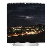 September Lightning Shower Curtain