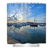 September Morning At Lyme Regis Shower Curtain