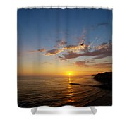 September Sunday Sunset  Shower Curtain