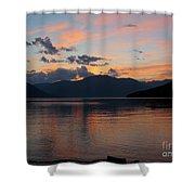 September Sunset Shower Curtain