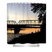September Sunset On The River Shower Curtain