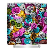 Sequins Abstract Shower Curtain