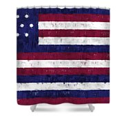 Serapis Flag Shower Curtain by World Art Prints And Designs