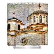 Serbian Orthodox Church - San Marcos California Shower Curtain