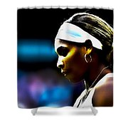 Serena Williams Focus Shower Curtain