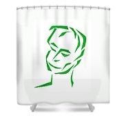 Serene Face Shower Curtain