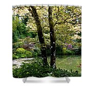 Serene Garden Retreat Shower Curtain