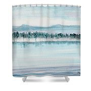Serene Lake View Shower Curtain