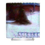 Serene New England Cabin In Winter #10 Shower Curtain