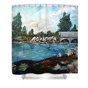 Serene River Shower Curtain