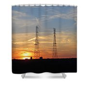 Serene Setting Shower Curtain