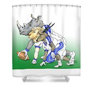 Serengeti Scrimage Line Shower Curtain