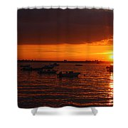Serenity At The Bay - Sunset Shower Curtain