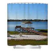 Serenity At The Lake Shower Curtain