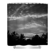 Serenity - Bw Shower Curtain