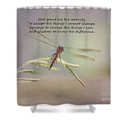 Serenity Courage And Wisdom Shower Curtain