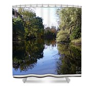 Serenity Pond Reflection At Limehouse Ontario Shower Curtain