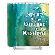 Serenity Prayer 2 - By Sharon Cummings Shower Curtain