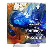 Serenity Prayer 4 - By Sharon Cummings Shower Curtain