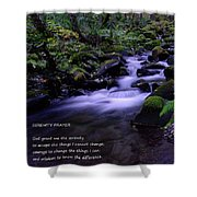 Serenity Prayer  Shower Curtain by Jeff Swan