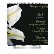 Serenity Prayer 3 Shower Curtain
