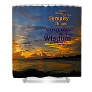 Serenity Prayer Sunset By Sharon Cummings Shower Curtain