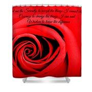 Serenity Rose Shower Curtain
