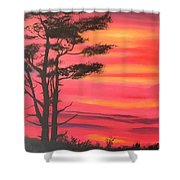 Serenity Tree Shower Curtain