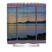 Serenity Tryptych Shower Curtain