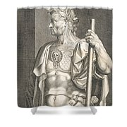 Sergius Galba Emperor Of Rome  Shower Curtain by Titian