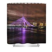 Seri Wawasan Bridge At Night Shower Curtain