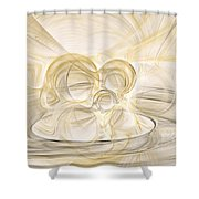 Series Abstract Art In Earth Tones 2 Shower Curtain