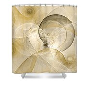 Series Abstract Art In Earth Tones 3 Shower Curtain