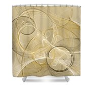 Series Abstract Art In Earth Tones 4 Shower Curtain
