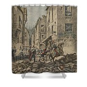 Serious Troubles In Italy Riots Shower Curtain