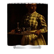 Serving Maid Shower Curtain