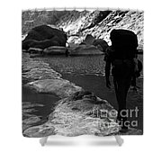 Sespe Creek Backbone Shower Curtain