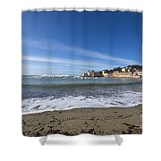 Sestri Levante And Beach Shower Curtain