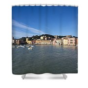 Sestri Levante With Blue Sky Shower Curtain