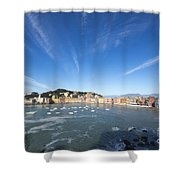 Sestri Levante With Clouds Shower Curtain