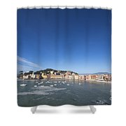 Sestri Levante With The Sea And Blue Sky Shower Curtain