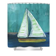 Set Free- Sailboat Painting Shower Curtain