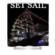 Set Sail Work One Shower Curtain