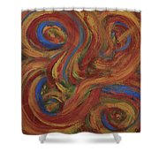 Set To Music - Original Abstract Painting Painting - Affordable Art Shower Curtain