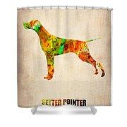 Setter Pointer Poster Shower Curtain