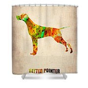 Setter Pointer Poster Shower Curtain by Naxart Studio
