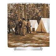 Settin Up Camp Shower Curtain