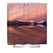 Setting On Glacier Shower Curtain