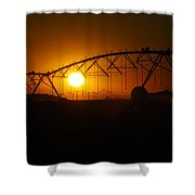 Setting On Rural America Shower Curtain