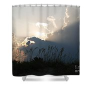 Setting Rays At Sand Dunes Shower Curtain